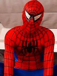 Gang Bang: Dick Smolderingly Hot Threesome As Spiderman Fucks & Creams Two Horny Twinks!