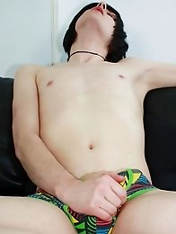 Urban Brit Seth is an emo boy with a smooth hairless body and a thick uncut cock