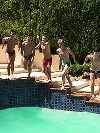 What better way to spend a hot summer afternoon then at a twink pool party.